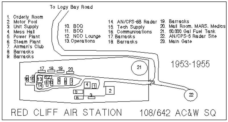 Base Diagram Of 108th  U2013 642nd Ac U0026w Squadron  1953