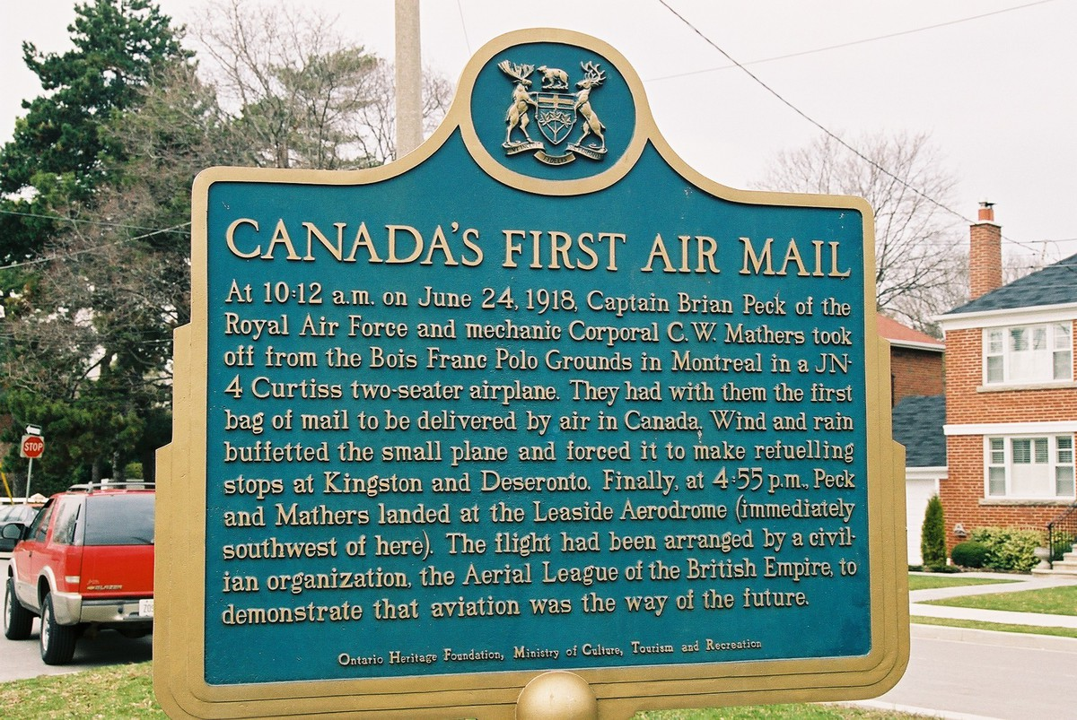 Air mail comes to Canada at the Leaside Aerodrome – Canadian ...